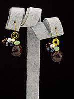 044948 Серьги 'Hand Made' Агат  украшение с натуральным камнем