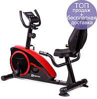Горизонтальный велотренажер Hop-Sport HS-67R Axum black/red для дома и спортзала  , Львов