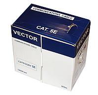 Кабель FTP, CCA, для внутренней прокладки, 4x2x0,50 мм, Vector, бухта 305 м