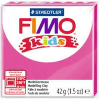 Фимо Кидс полимерная глина Fimo Kids 220, розовый, фуксия Германия.