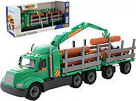 Автомобиль-лесовоз с прицепом Майк (в коробке)