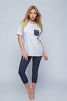Женский костюм для сна и дома: туника, леггинсы T-shirt + legginsy Mirella Sensis