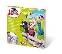 """Подарочный набор Фимо Fimo KIDS """"Пони"""", 4шт.+стек+инструкция, фото 1"""