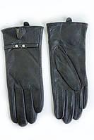 Зимние женские перчатки с украшением