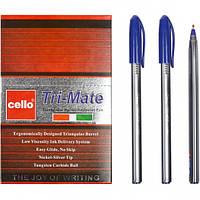 "Ручка масляная ""Tri-Mate"" Cello 1779В синяя"
