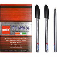 """Ручка масляная """"Tri-Mate"""" Cello 1779В черная"""