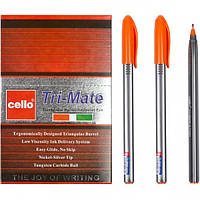 """Ручка масляная """"Tri-Mate"""" Cello 1779В оранжевая"""