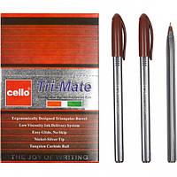 "Ручка масляная ""Tri-Mate"" Cello 1779В коричневая"