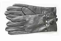 Кожаные перчатки с утеплителем под кролик