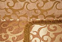 Покрывало полуторное на диван, полуторную кровать (дивандек полуторный). ВИТОК крупный коричневый.