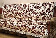 """Покрывала """"Гортензия"""" на мягкую мебель. Цвет - бордовый."""