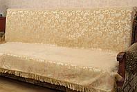 """Набор покрывал """"Клематис"""" на диван и два кресла. Цвет - персиковый."""