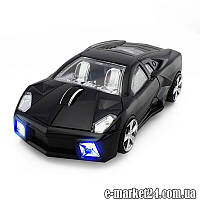 Портативная беспроводная мышка 3-кн, lamborghini, black, art001502
