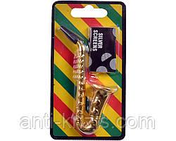 Трубка для курения (металл) Саксофон №4763,высший сорт