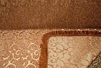 Покрывало гобеленовое на две стороны. Полуторное покрывало на диван. Дивандек. ВИТОК мелкий коричневый.