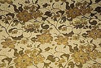 """Полуторное покрывало на кровать, диван """"Орхидея"""", цвет- золото."""