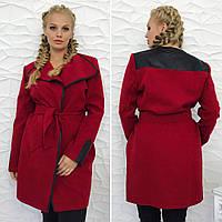 Женское пальто-тренч из кашемира батал