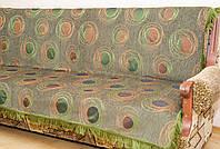 """Комплект покрывал """"Павлин"""" на мягкую мебель.  Цвет - зеленый."""