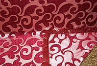 """Покрывала """"Виток"""" на диван и два кресла. Цвет - бордовый."""