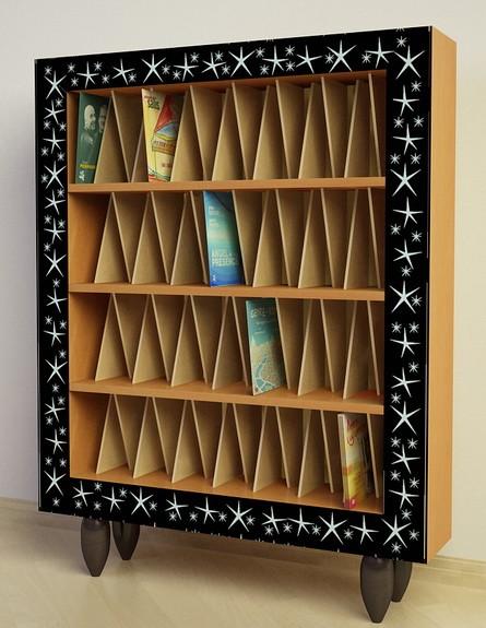 Шкаф Ш96 для виниловых пластинок в багетной раме