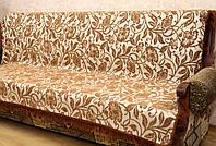 """Гобеленовые покрывала """"Лилия"""" на мягкую мебель. Цвет - коричневый."""
