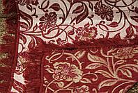 """Дивандек """"Лилия"""" на диван и два кресла. Цвет - бордовый."""