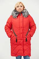 Зимняя женская куртка больших размеров с мехом