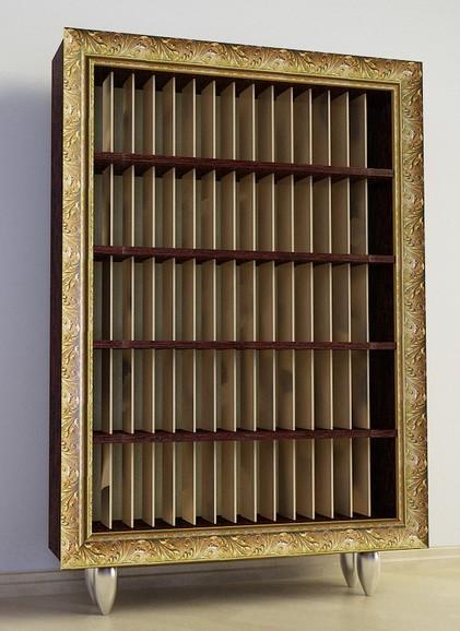 Шафа Ш95 для вінілових платівок на 1500 шт в багетній рамі