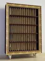 Шкаф Ш95 для виниловых пластинок на 1500 шт в багетной раме