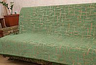 """Двусторонние гобеленовые покрывала """"Бамбук"""". Цвет - зеленый."""