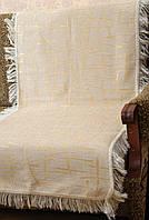 """Набор покрывал """"Бамбук"""" на диван и кресла. Цвет - белое золота."""