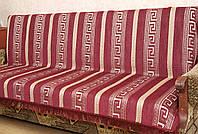 """Набор двусторонних покрывал """"Фараон"""" на мягкую мебель. Цвет - бордовый."""