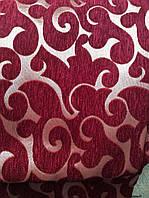 """Комплект покрывал  на диван и кресла """"Виток"""". Цвет - бордовый."""