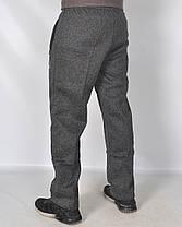 Штаны спортивные мужские рябые - зима увеличенные, фото 2