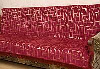 """Комплект дивандеков """"Бамбук"""". Цвет - бордовый."""