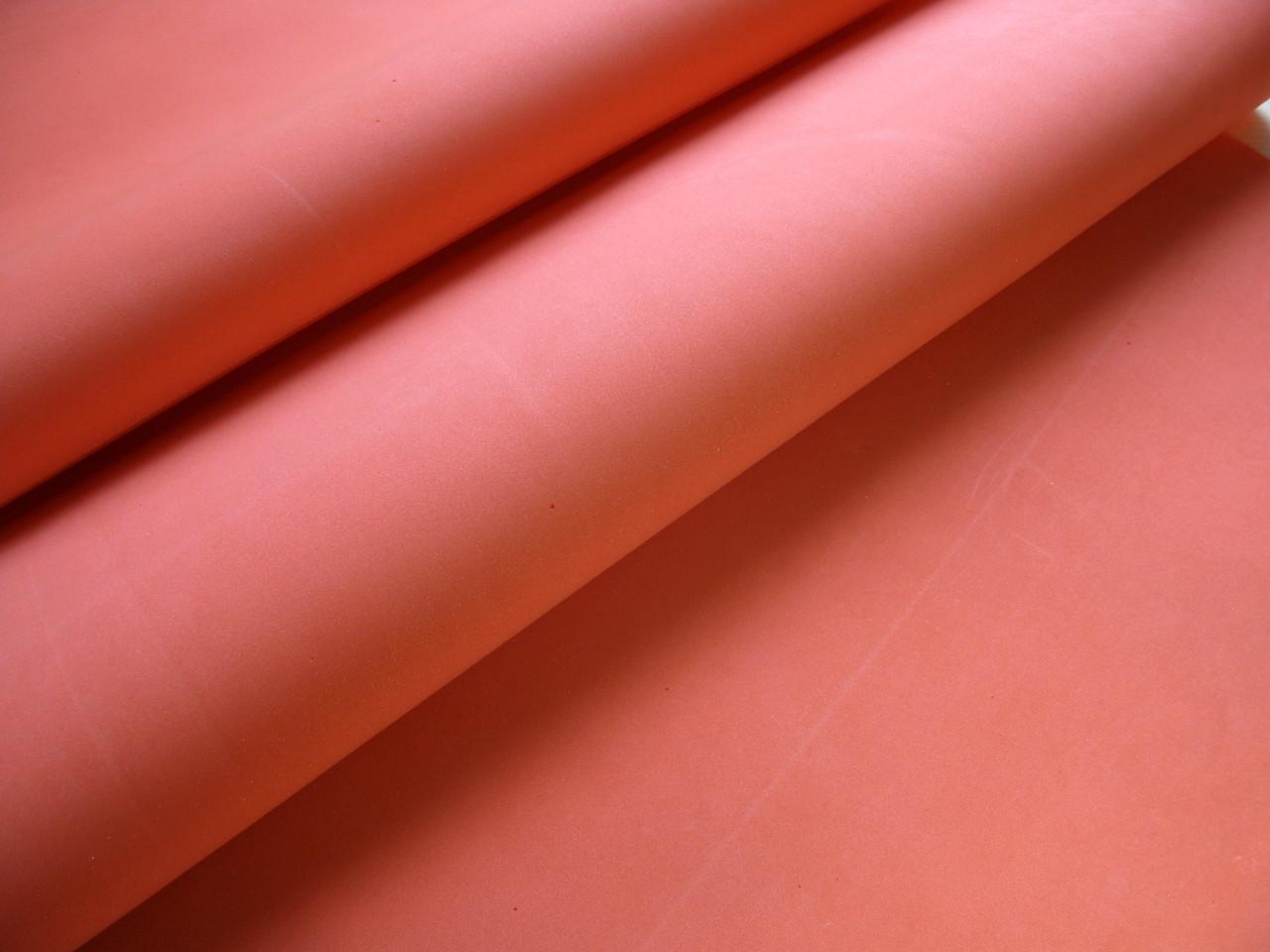 Шовковий Фоамиран, Червоний 46 на 46 см 0,6-0,8 мм