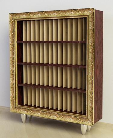 Шкаф Ш 105 на 1500 виниловых  пластинок в багетной раме