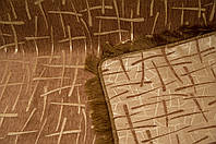 """Большое покрывало """"Бамбук"""" на диван, кровать. Цвет - коричневый."""