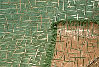 """Покрывало """"Бамбук"""" из двустороннего гобелена. Цвет - зелено-золотистый. Евро размера."""