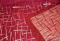 """Покрывало двусторонний гобелен """"Бамбук"""" евро размера.  Цвет - бордовый."""