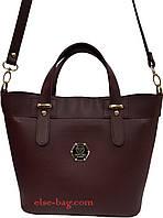 Женская сумка из эко кожи в виде корзинки