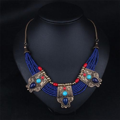 Ожерелье хэнд-мэйд с натуральными лазуритами,бирюзой и кораллами - Интернет-магазин *Изумруд* в Херсоне