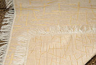 """Покрывало на диван из двустороннего гобелена """"Бамбук"""". Цвет - белое золото, размер 160*220"""