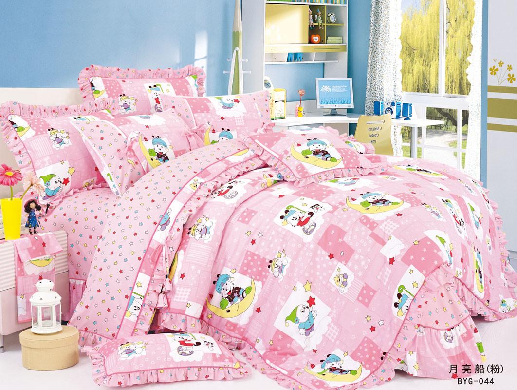 """Дитяче постільна білизна в ліжечко """"Love You"""" 100х150 сатин Cr-17008"""