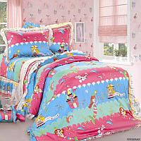 """Детское постельное белье в кроватку """"Love You"""" Cr-467 сатин"""