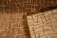 """Покрывало на диван из двустороннего гобелена """"Бамбук"""". Цвет - коричневый, размер 160*220"""