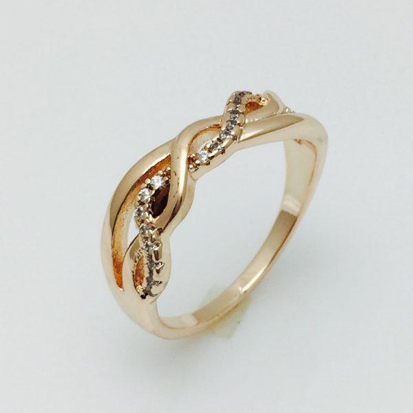 Женское кольцо Коса, размер 17 ювелирная бижутерия