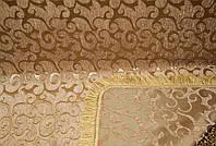 """Покрывало двусторонний гобелен """"Виток мелкий"""" на диван размер 160×220. Цвет - бежевый."""