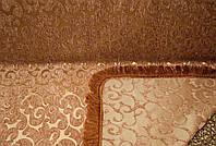 "Двусторонний гобеленовый дивандек ""Виток мелкий"". Цвет - шоколад. Размер 160×220."