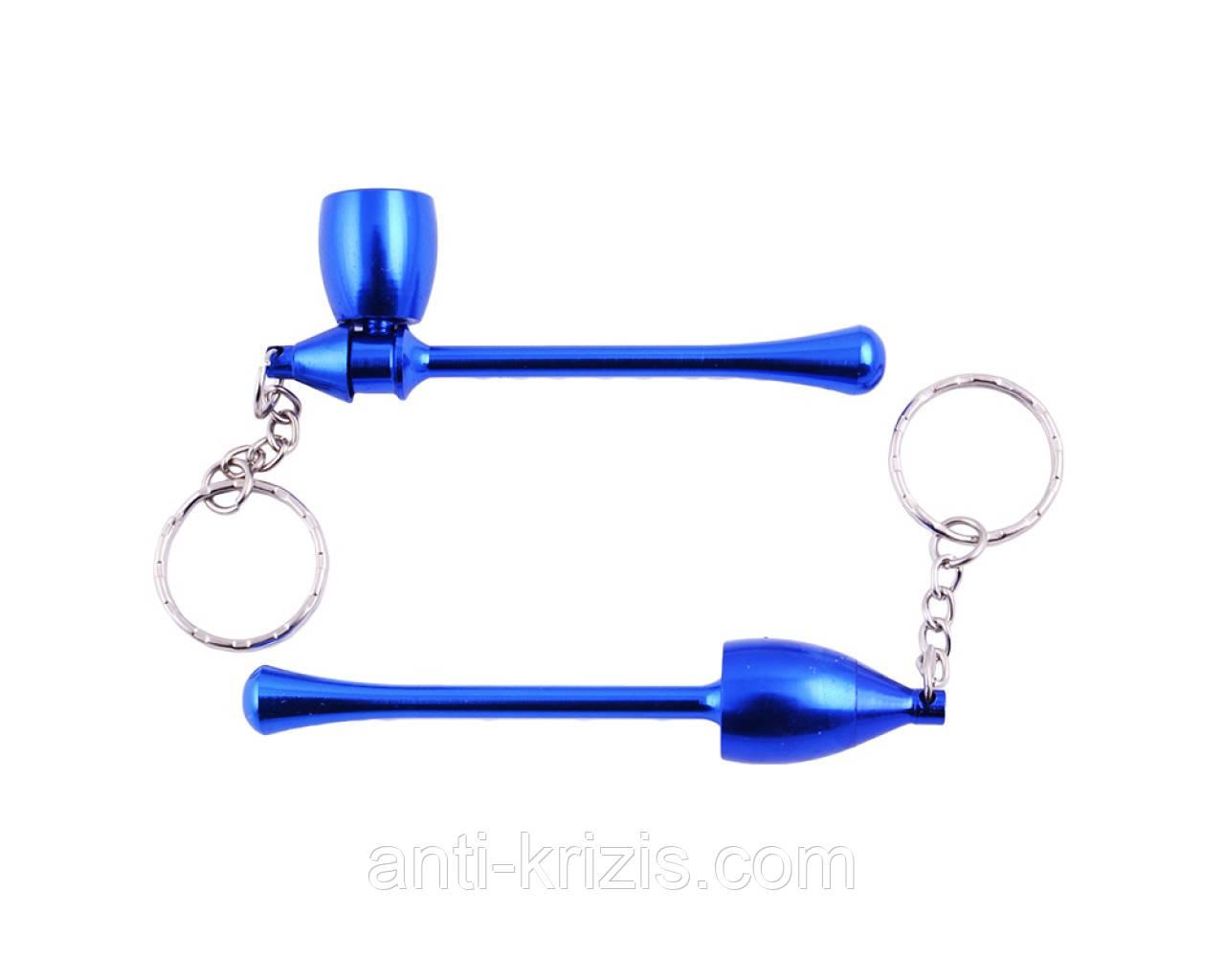 Трубка для курения-брелок Капля (синяя) №4685,высший сорт